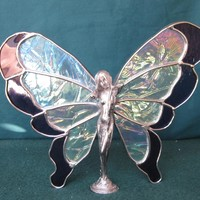 Butterfly figurine from stained glass