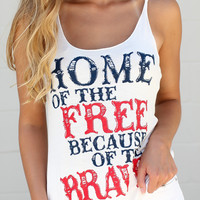 Home Of The Free Tank