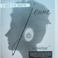 Original French Vintage Poster Ad - Van Cleef and Arpels Jewelry Boutique 1954