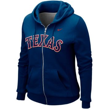 Texas Rangers Nike Women's Classic Full Zip Hoodie 1.2 – Royal Blue