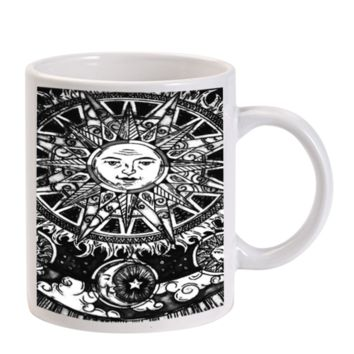 Gift Mugs | Sun And Moon Art Ceramic Coffee Mugs