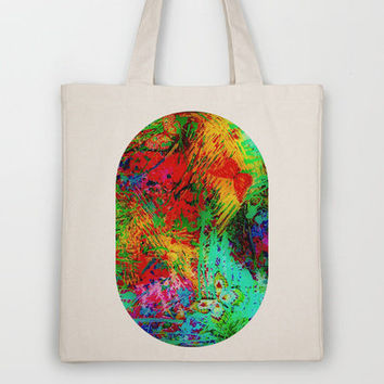 BUTTERFLY FEVER - Bold Rainbow Butterflies Fairy Garden Magical Bright Abstract Acrylic Painting Tote Bag by EbiEmporium | Society6