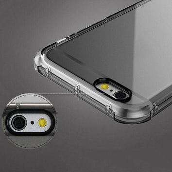 NEW! Shockproof Rugged Hybrid Rubber Armor Transparent Soft TPU phone Case For iPhone 7 For iPhone7 7 Plus back cover case