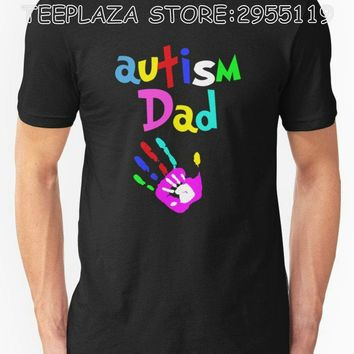 Teeplaza T Shirt Designer O-Neck Short Father'S Day Autism Dad New Style Tee Shirt For Men