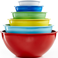 Martha Stewart Collection Set of 6 Melamine Mixing Bowls, Only at Macy's - Kitchen Gadgets - Kitchen - Macy's