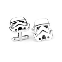 A Pair High Quality Tenis Masculino Brazil Hot Brass Shirt Gemelos Mens Superhero Clone Trooper Star Wars Novelty Cuff Links