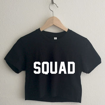 Squad Varsity Typography Crop Top