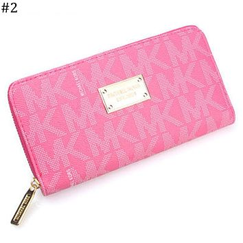 MK trend women's long zipper coin purse wallet clutch #2