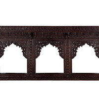 Wooden Carved Hand Polished Jharokha Mirror Frame - Wall Décor