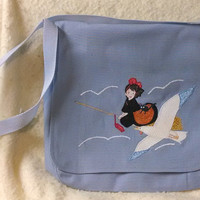 Kiki's Delivery Service Applique Canvas Messenger Bag or Pillow