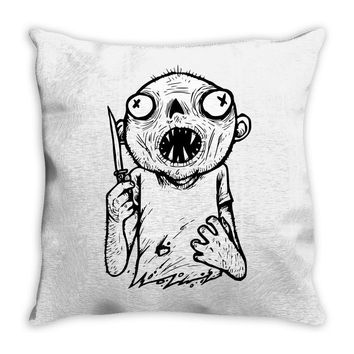 zombie knife Throw Pillow