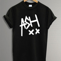 Ashton Irwin Shirt The 5 SOS Symbol Printed Black and White t-Shirt For Men Or Women Size TS 39