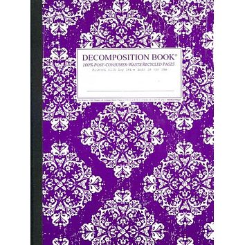 Victoria Purple Decomposition Book: College-ruled Composition Notebook With 100% Post-consumer-waste Recycled Pages