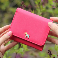 Donbook Pony heritage saffiano leather small wallet K