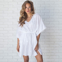Oahu Embroider Tunic & Cover Up