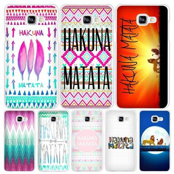 hakuna matata lion king Hard White Coque Shell Case Cover Phone Cases for Samsung Galaxy A3 A5 A7 2016 2017 A8 A9