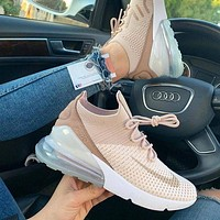 NIKE Air Max 270 Flyknit New Fashion Sports Leisure Shoes Sneakers Women