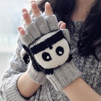 FunShop Panda Mitten Gloves for Women F1104