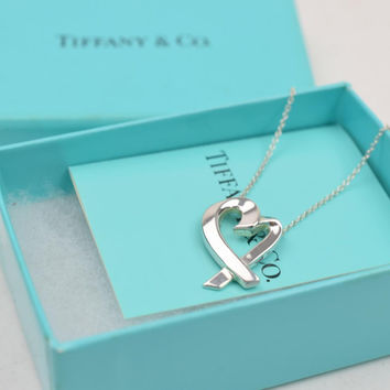 Tiffany & Co. Pendant Necklace Loving Heart Silver 925 Picasso 10277
