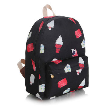 Canvas Lovely Cute Korean Backpack = 4887578692