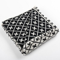Black & White Monogram cotton/wool Blanket