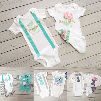 Baby Boy Girl Twin 1st Birthday Outfit Twins 1st Birthday Set Baby Boys 1st Birthday Outfit with Matching Baby Girls 1st Birthday Outfit