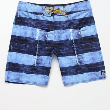 Reef Torn Salvage Boardshorts - Mens Board Shorts - Blue