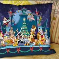 Christmas Disney - Pillow Cover and Pillow Case.