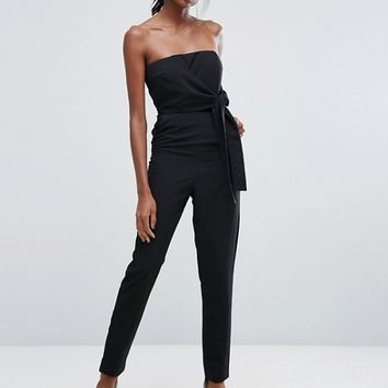 Lavish Alice Bandeau Jumpsuit With Tie Detail at asos.com