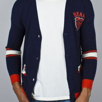 Junk Food Clothing - NFL Chiacgo Bears Unisex Intarsia Cardigan - Chicago Bears - NFL - Collections - Mens
