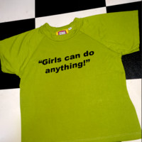 SWEET LORD O'MIGHTY! GIRLS CAN DO ANYTHING CROP TEE