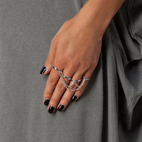 Tassels Four-Pieces Multi-finger Ring