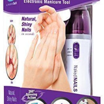 New Naked Nails Electronic Manicure Tool by Finishing Touch Nail Care System Perfect Pedi, File/Buff and Shine Effortlessly
