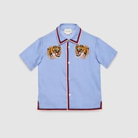Gucci Children's oxford shirt with tigers