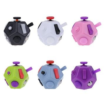 12 Sides Upgraded Fidget Cube 2 Magic Cube for Adults Children Version 2.0 Fidget Cube Anxiety Squeeze Fun Stress Reliever Toy