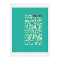 Fimbis Friends Art Print