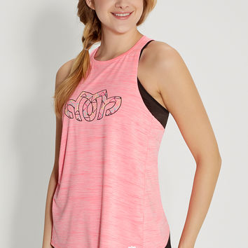 neon tank with lotus graphic