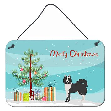 Black and White Elo dog Christmas Tree Wall or Door Hanging Prints CK3452DS812