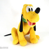 DISNEY LARGE PLUTO THE DOG PLUSH TOY-LICENSED STUFFED TOY-DISNEY PLUSH-NEW!!!