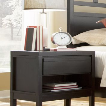 Athena Transitional Nightstand Dark Chocolate