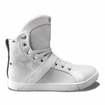#MyHeyday White Super Shift High Top Sneakers