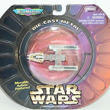 Licensed cool 1997 STAR WARS Y-WING STARFIGHTER Vehicle Die cast Metal Micro Machines NIP