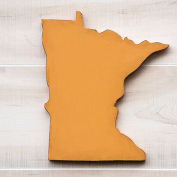 Minnesota or any US state shape sign wood cutout wall art . 24 Colors. Wedding Housewarming College Sports Fan Decor Gift