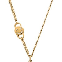 Marc by Marc Jacobs Scalloped Disc-O Necklace in Metallic Gold