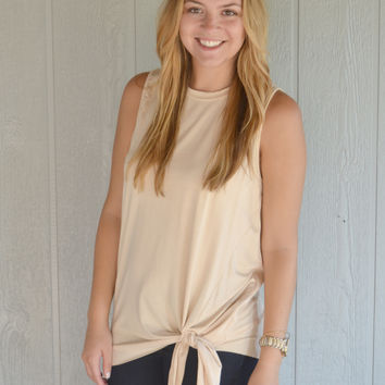 Keep Up with Lyla Casual Top (Tan)