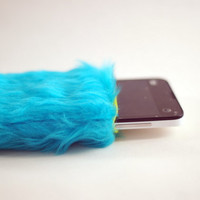 Cover Phone fur and felt Case