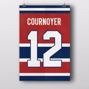 Yvan Cournoyer Number 12 Jersey