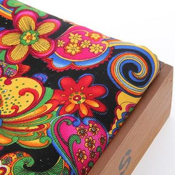 Upholstery Canvas Fabric Cotton Duck Fabric For Bag Shoes Shirt Home Decrotion DIY Handmade Cushion Red silk flower 50x155cm