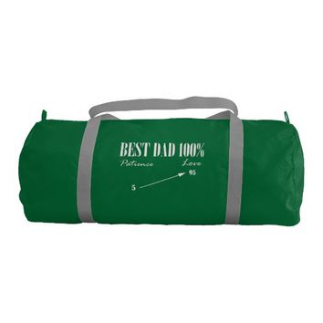 Best Dad 100% Love Patience Father Duffel Gym Bag