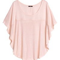 Top with butterfly sleeves - from H&M